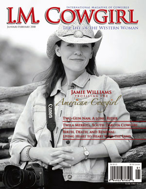 Jamie williams on the I M Cowgirl Cover January 2008 issue