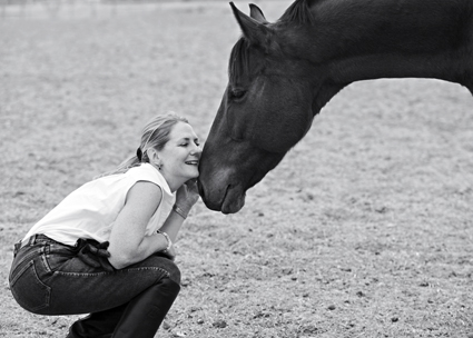 Lynn Crozier and her horse, Jack.